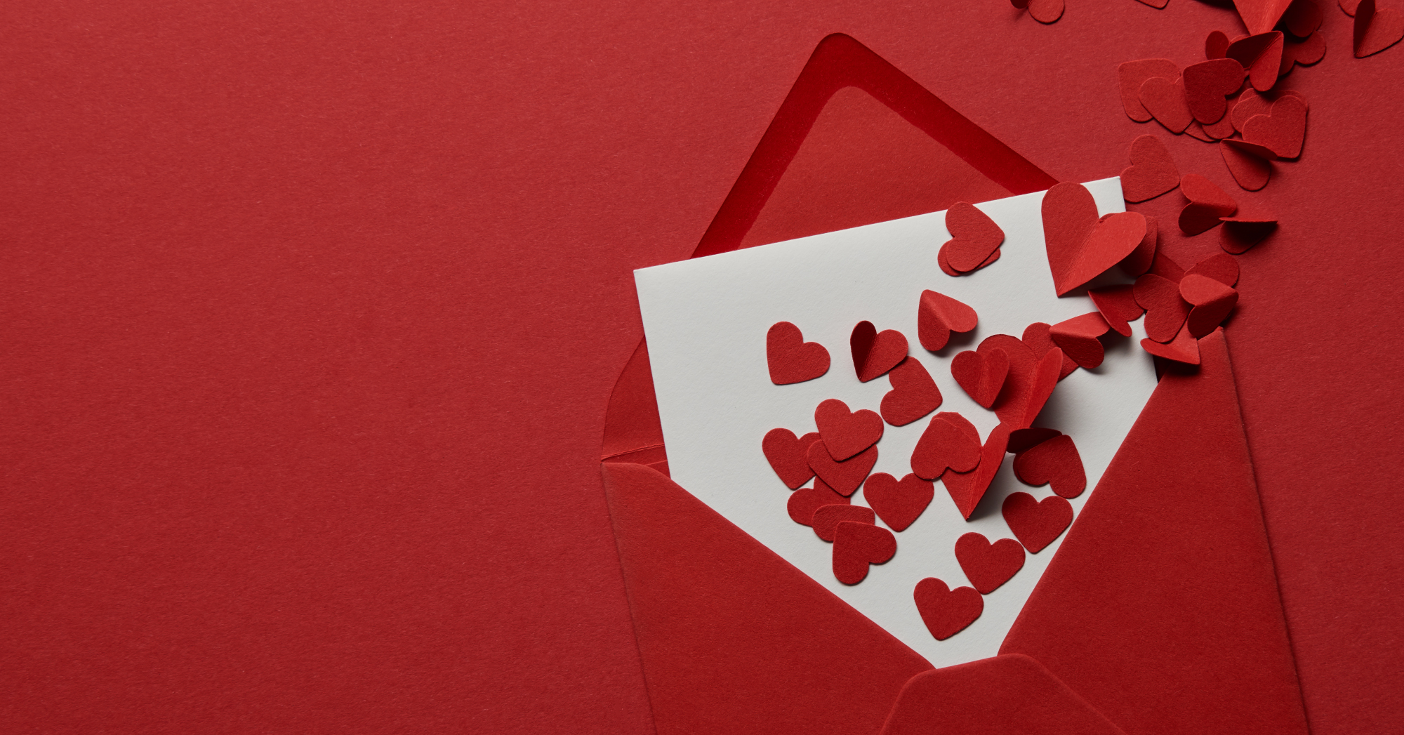 Envelope with hearts
