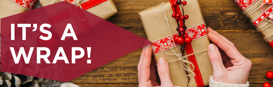 It's a wrap, gift wrapping that is!